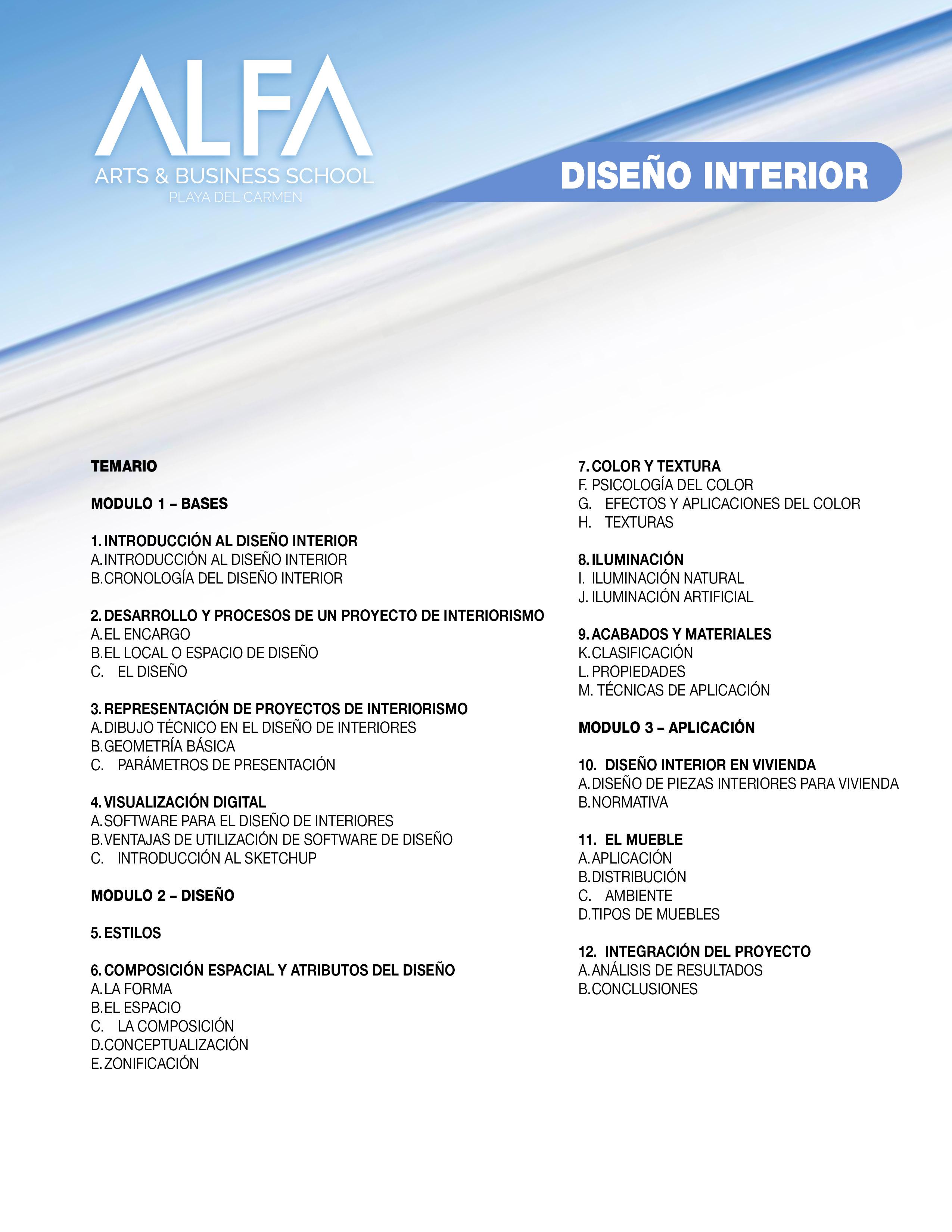 Diplomados Alfa ~ Aplicaciones De Diseño De Interiores